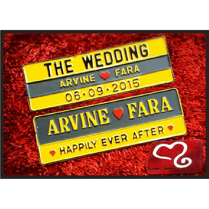 Wedding Car Plate by Sweetlovecollection - 042