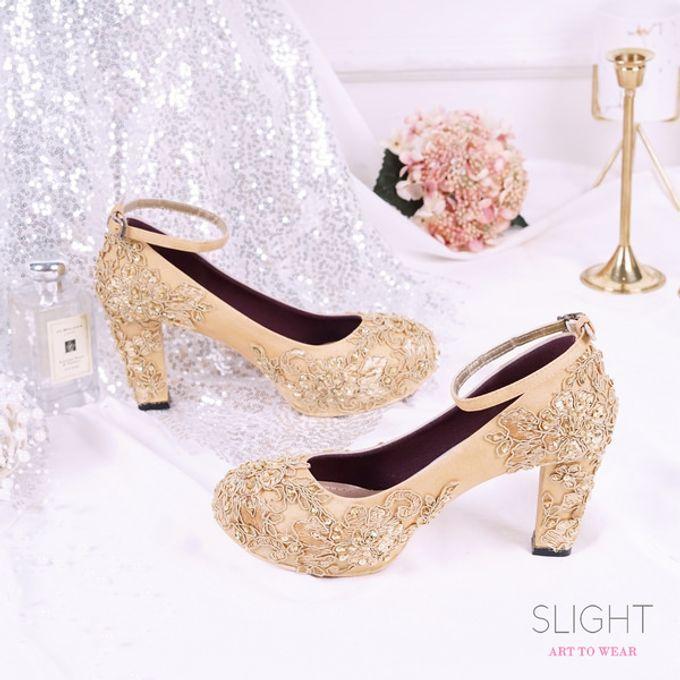 Sepatu Chunky Brukat Gold by SLIGHTshop.com - 001