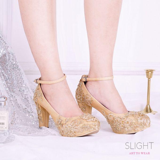 Sepatu Chunky Brukat Gold by SLIGHTshop.com - 002
