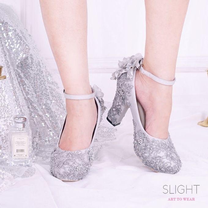 Sepatu Chunky PomPom Brukat Silver by SLIGHTshop.com - 002