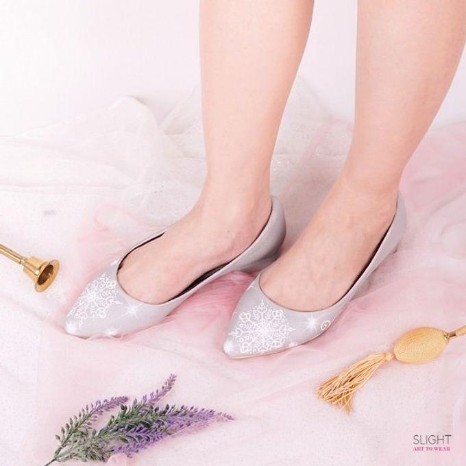 Sepatu Flats Lukis Frosty Silver by SLIGHTshop.com - 001