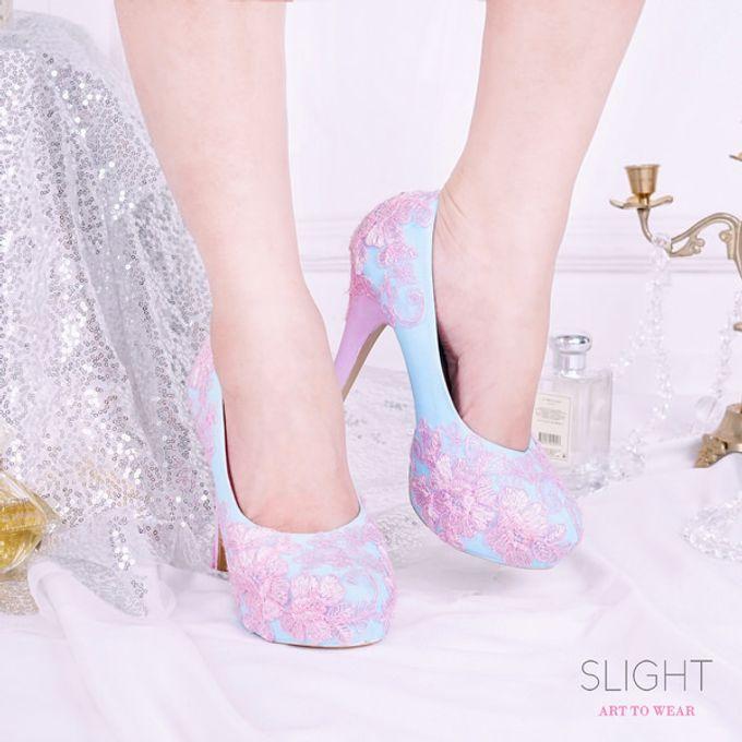 Sepatu Platform Brukat Pink Biru by SLIGHTshop.com - 002