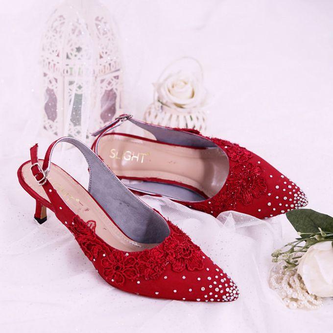 Sepatu Slingback Marigold Merah by SLIGHTshop.com - 001