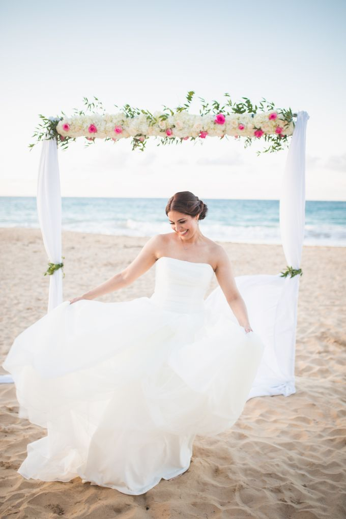 Romantic destination wedding on the beach by Weddings by AMR - 002