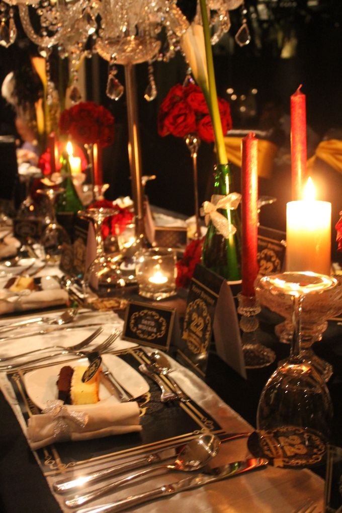 Elegant Champagne Birthday Dinner For DAVID by 1994 Decoration - 002