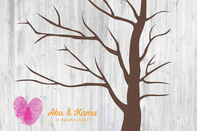 Canvas Guestbook Wedding Artwork - Fingerprint T3 by Bikinseru.aja - 008