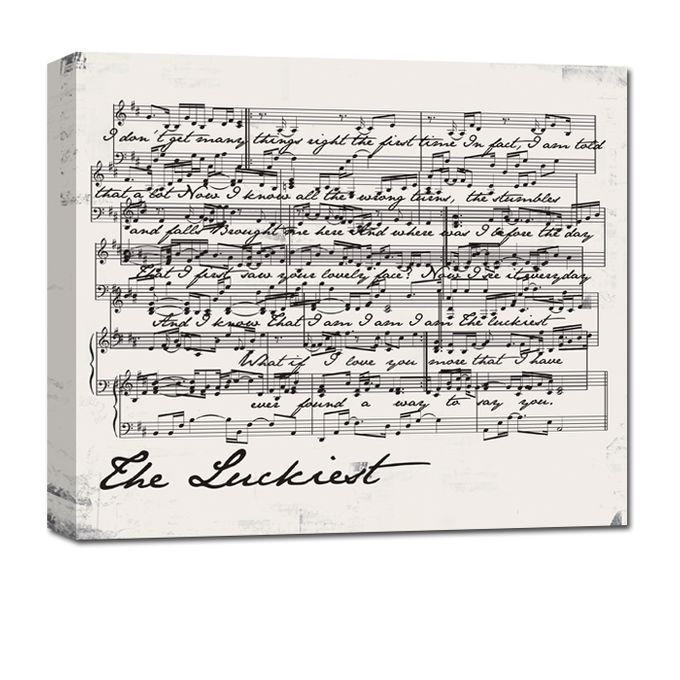 Sheet Music Canvas by Geezees Custom Canvas - 004