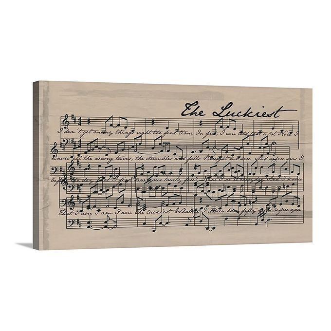 Sheet Music Canvas by Geezees Custom Canvas - 007