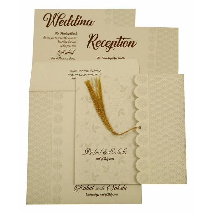 Floral Wedding invitation design for Rahul & Sakshi wedding by 123WeddingCards - 002