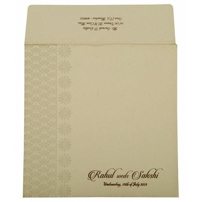 Floral Wedding invitation design for Rahul & Sakshi wedding by 123WeddingCards - 003