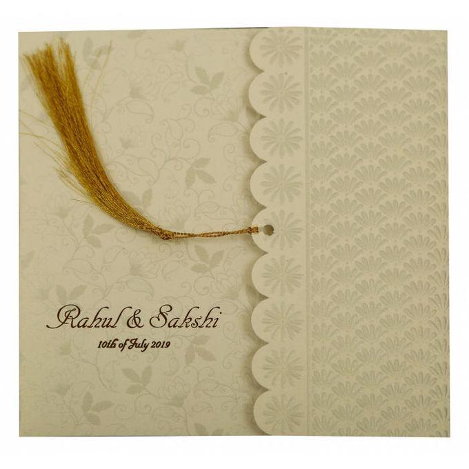 Floral Wedding invitation design for Rahul & Sakshi wedding by 123WeddingCards - 004