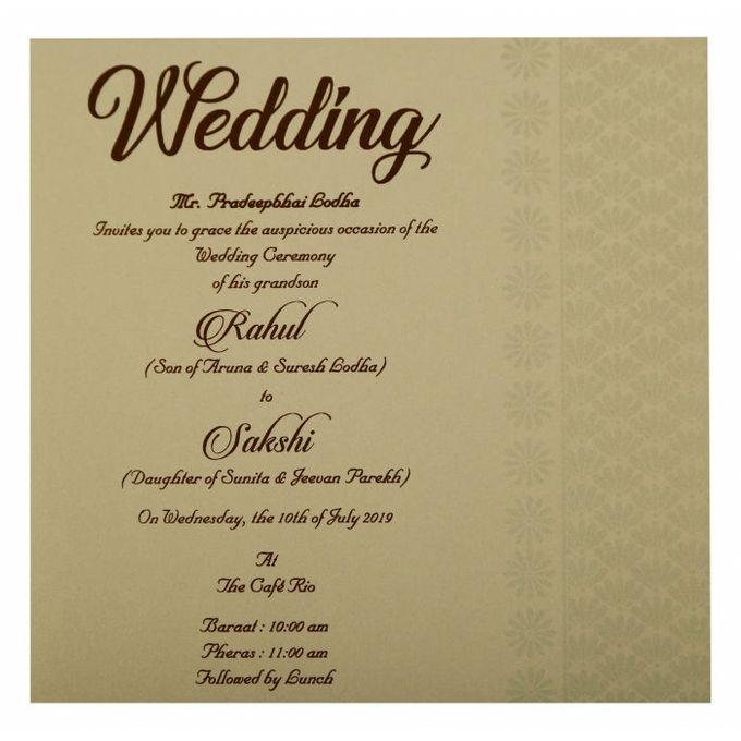 Floral Wedding invitation design for Rahul & Sakshi wedding by 123WeddingCards - 005