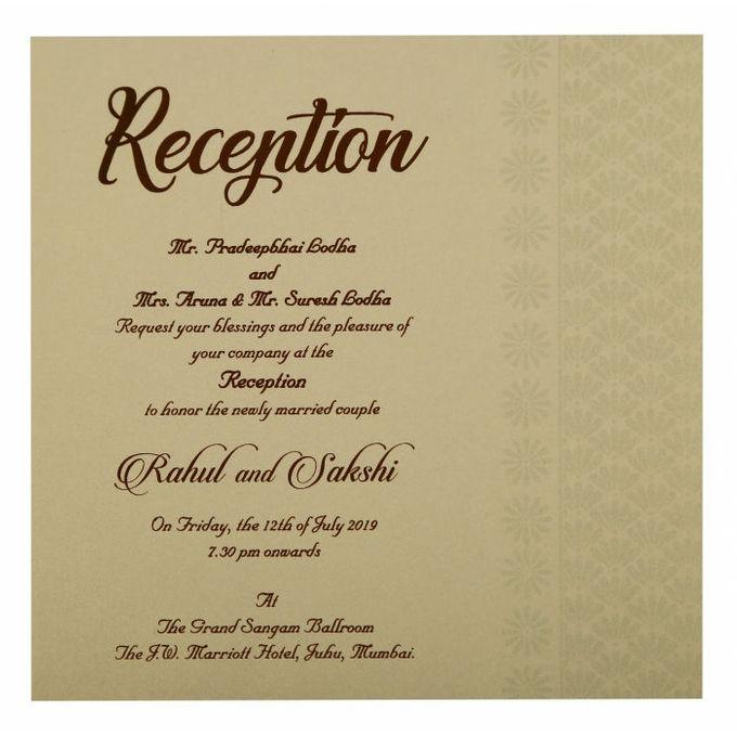 Floral Wedding invitation design for Rahul & Sakshi wedding by 123WeddingCards - 006