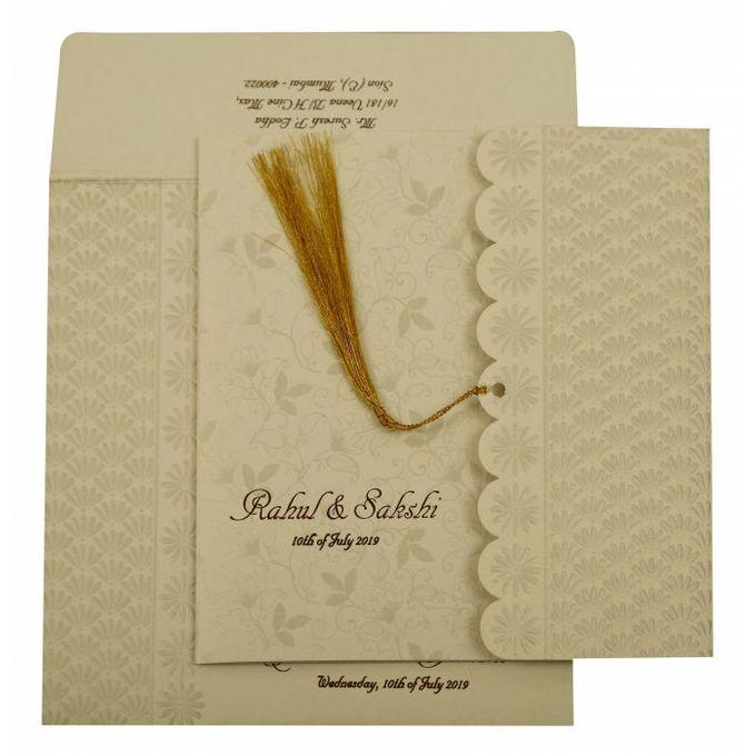 Floral Wedding invitation design for Rahul & Sakshi wedding by 123WeddingCards - 008