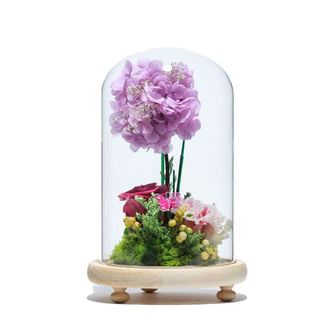 Add To Board Preserved Flower Glass Dome By BloomBack