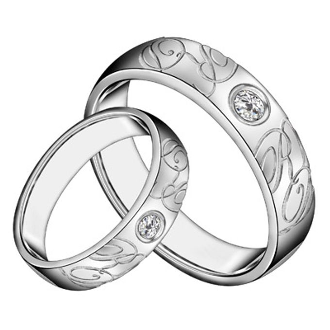 wedding ring engrave & finger print d'sign by V&Co Jewellery - 003