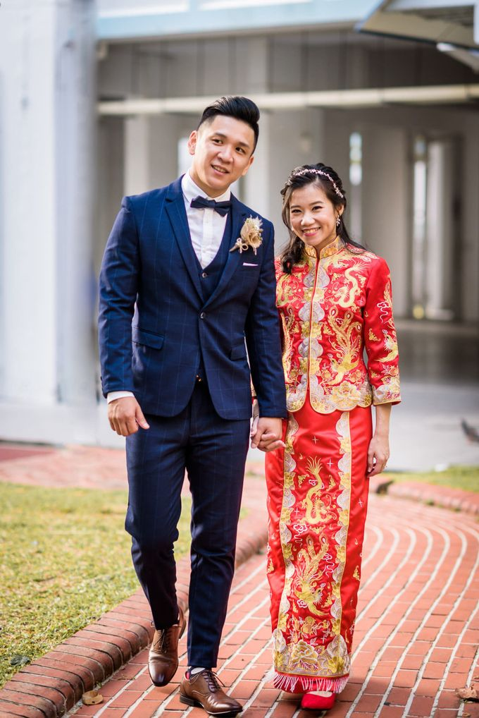 Wedding of Pamela & Kevin By Daniel Sim Photography by The Gown Warehouse - 014
