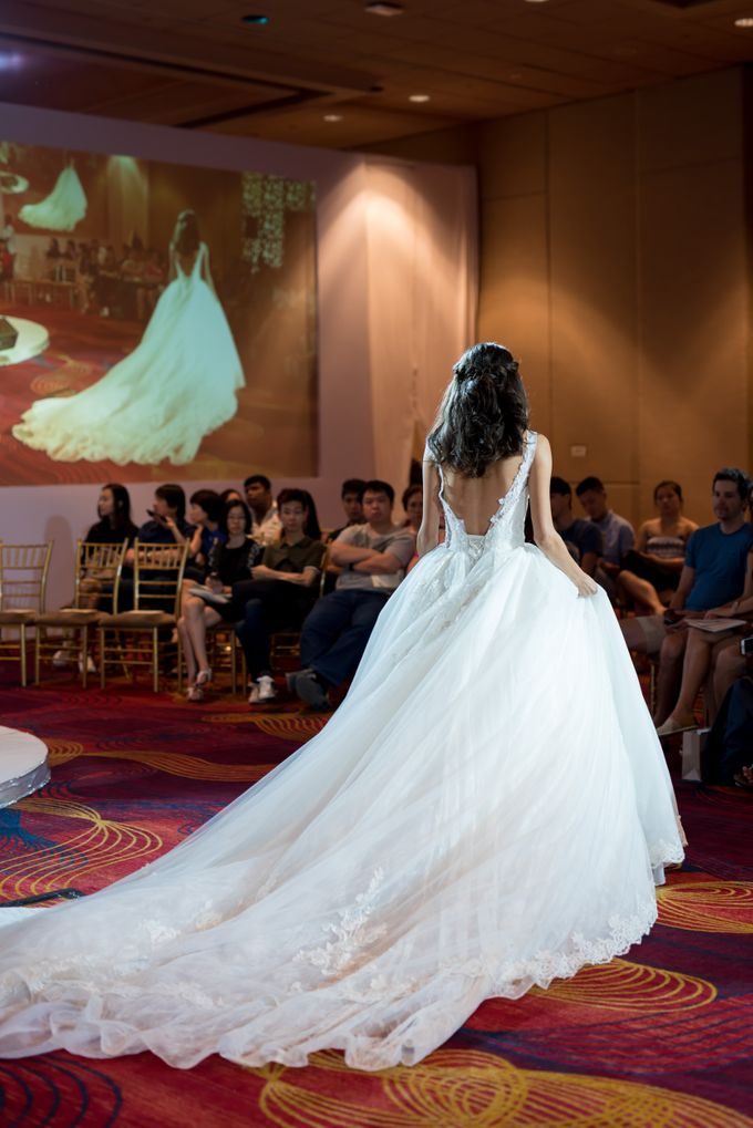 Bridal Gown Fashion Show At Mandarin Orchard Singapore by La Belle Couture Weddings Pte Ltd - 030