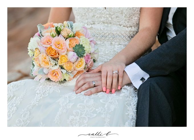An Ebb wedding with mint and peach by Ginger Lily & Rose Floral Studio - 007