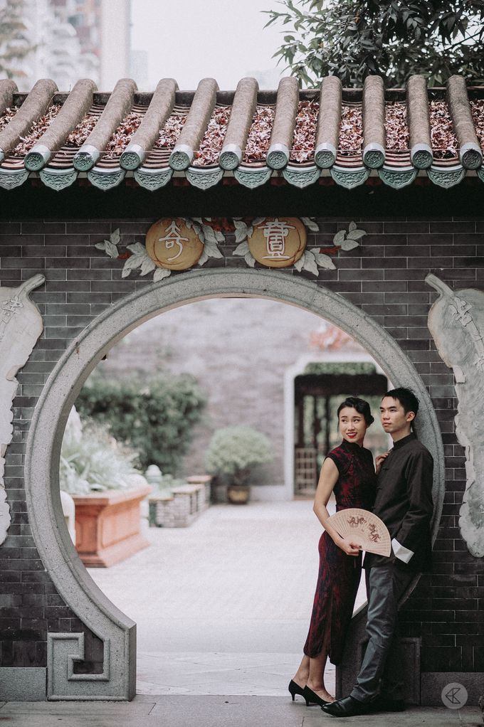 Sharon & Ming - 1930s Shanghai Engagement Portraits in Hong Kong by Chester Kher Creations - 012