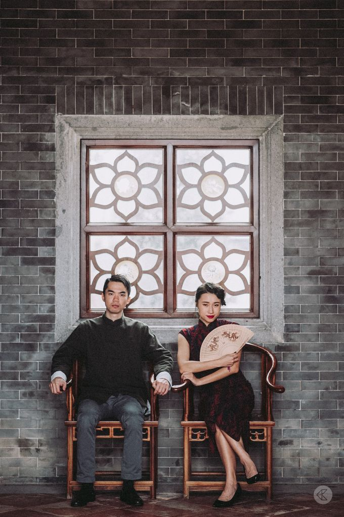 Sharon & Ming - 1930s Shanghai Engagement Portraits in Hong Kong by Chester Kher Creations - 014