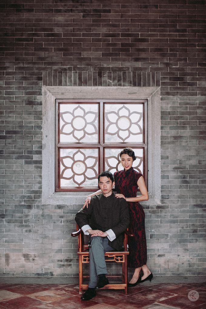 Sharon & Ming - 1930s Shanghai Engagement Portraits in Hong Kong by Chester Kher Creations - 015
