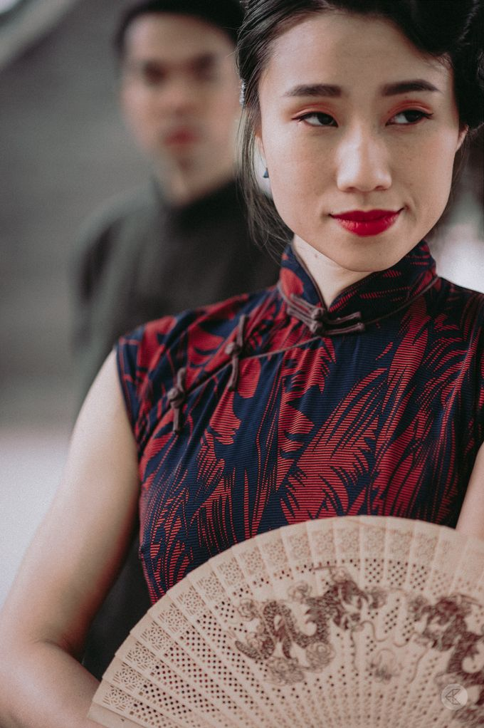 Sharon & Ming - 1930s Shanghai Engagement Portraits in Hong Kong by Chester Kher Creations - 020
