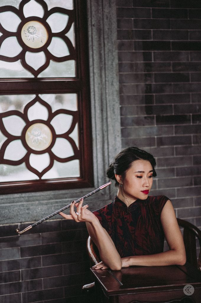 Sharon & Ming - 1930s Shanghai Engagement Portraits in Hong Kong by Chester Kher Creations - 021