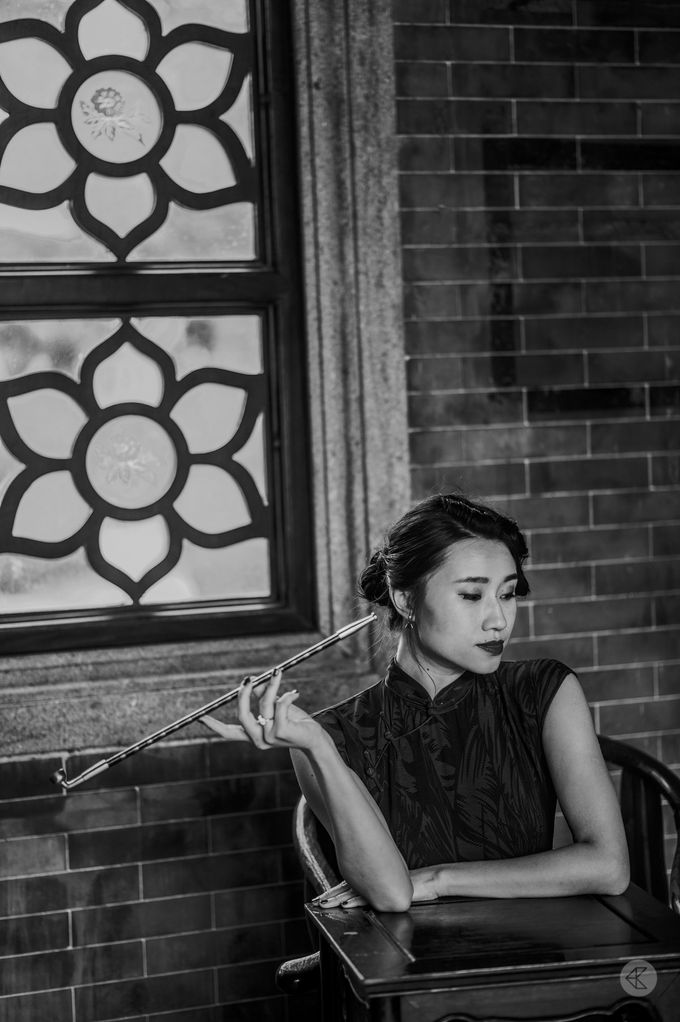 Sharon & Ming - 1930s Shanghai Engagement Portraits in Hong Kong by Chester Kher Creations - 022