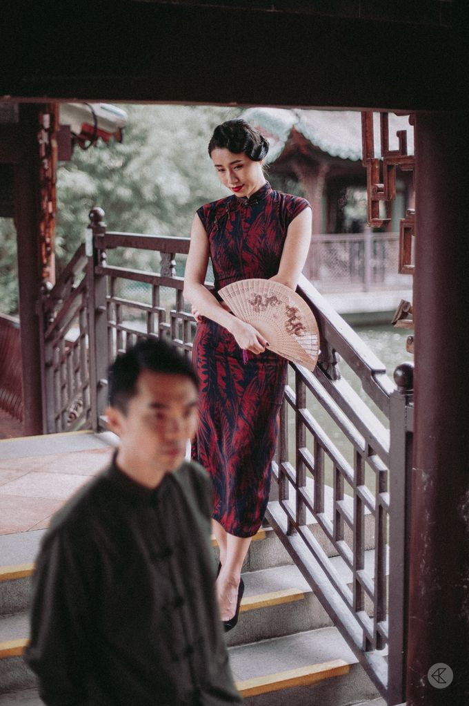 Sharon & Ming - 1930s Shanghai Engagement Portraits in Hong Kong by Chester Kher Creations - 025