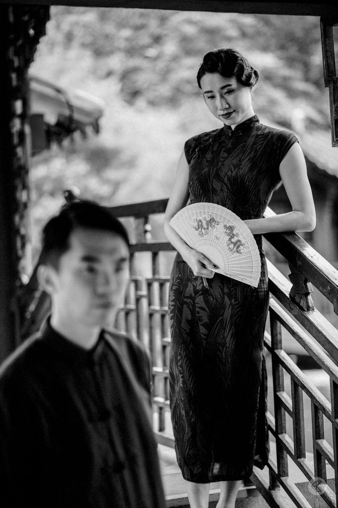 Sharon & Ming - 1930s Shanghai Engagement Portraits in Hong Kong by Chester Kher Creations - 026