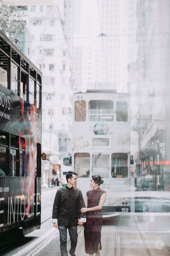 Sharon & Ming - 1930s Shanghai Engagement Portraits in Hong Kong by Chester Kher Creations - 002