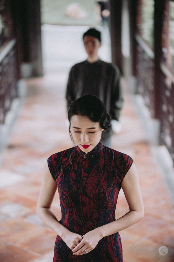 Sharon & Ming - 1930s Shanghai Engagement Portraits in Hong Kong by Chester Kher Creations - 029
