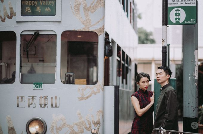 Sharon & Ming - 1930s Shanghai Engagement Portraits in Hong Kong by Chester Kher Creations - 003