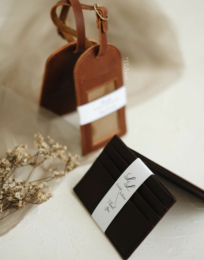 Luigi Lillian Luggage Tag & Card Holder by Yuo And Leather - 003