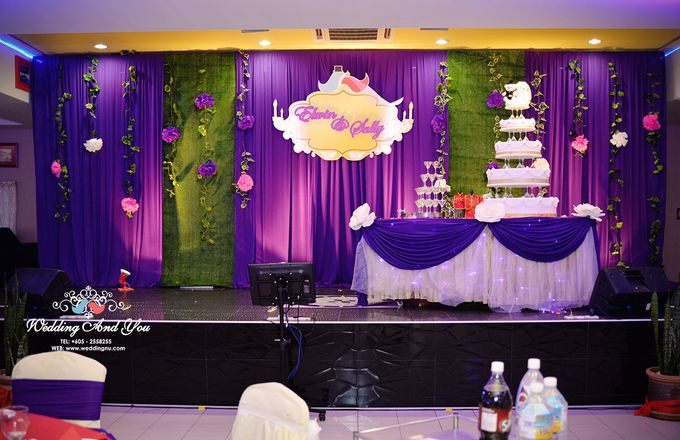 Stage Backdrop Design by Wedding And You - 019