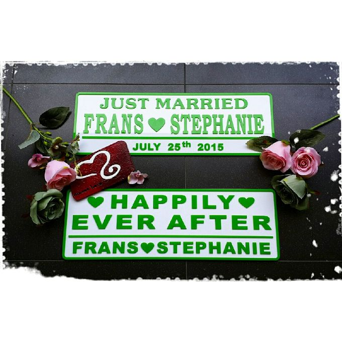 Wedding Car Plate by Sweetlovecollection - 040