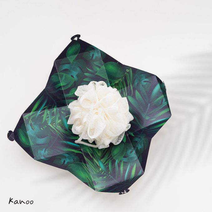 Wedding Souvenir - Shower Puff Greenery with with Box by Kanoo Paper & Gift - 001