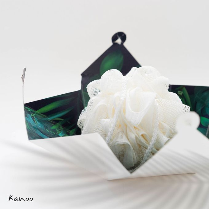 Wedding Souvenir - Shower Puff Greenery with with Box by Kanoo Paper & Gift - 002