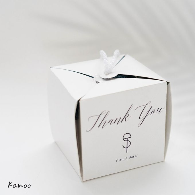 Wedding Souvenir - Shower Puff Greenery with with Box by Kanoo Paper & Gift - 005