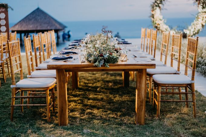 Rustic & Modern Wedding with a hint of Navy at Sinaran Surga Villa Bali by Silverdust Decoration - 016