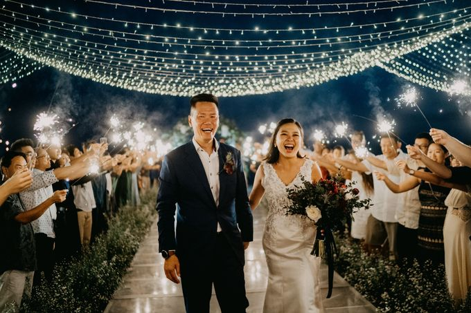 Rustic & Modern Wedding with a hint of Navy at Sinaran Surga Villa Bali by Silverdust Decoration - 017