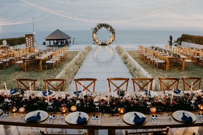 Rustic & Modern Wedding with a hint of Navy at Sinaran Surga Villa Bali by Silverdust Decoration - 022