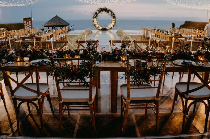 Rustic & Modern Wedding with a hint of Navy at Sinaran Surga Villa Bali by Silverdust Decoration - 023