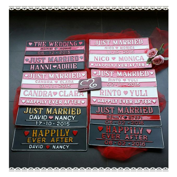 Wedding Car Plate by Sweetlovecollection - 008