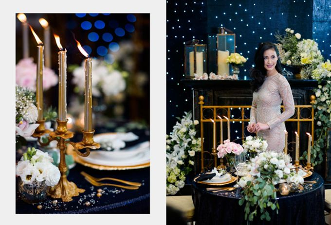 Stargazer Wedding with Bride & Breakfast by Mesclun Events Catering + Styling  - 003