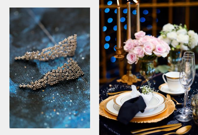 Stargazer Wedding with Bride & Breakfast by Mesclun Events Catering + Styling  - 007