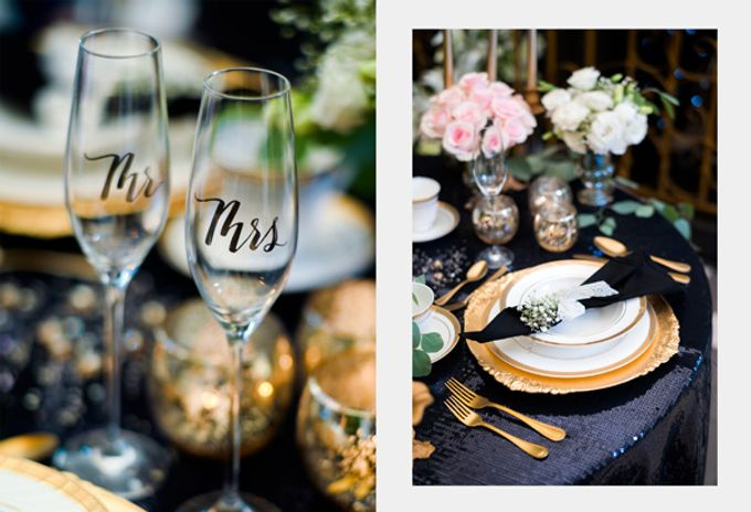 Stargazer Wedding with Bride & Breakfast by Mesclun Events Catering + Styling  - 008
