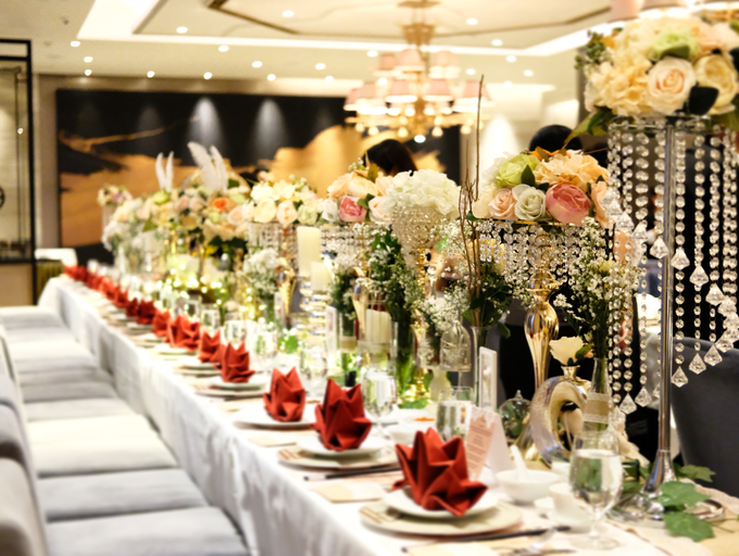 Wedding Long Table Rustic Gold Theme By Stefdecor Bridestory