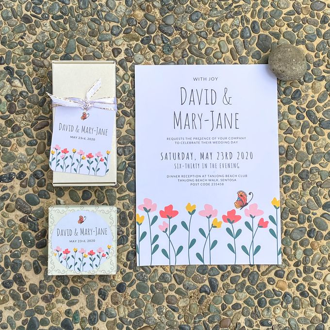 Butterfly Wedding invitation by Gift Elements - 001